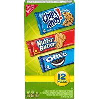 Make your next party or gathering a hit with the Nabisco Sweet Cookie Variety Pack. Mix of Classic Oreo, Nutter Butter and Chips Ahoy! Each individually sealed pack locks in freshness .