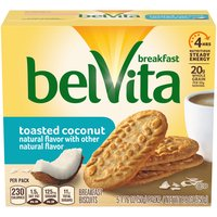Belvita Toasted Coconut Breakfast Biscuits - 5 Pack, 8.8 Ounce