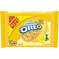 OREO Lemon Creme Cookies - Family Size, 20 Ounce