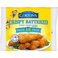 Gorton's Crispy Battered Fish Portions, 24.5 Ounce