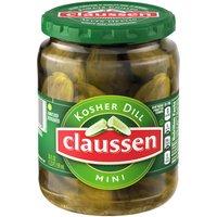 Claussen Claussen Mini Kosher Dill Pickles, 20 Fluid ounce