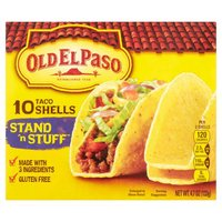10 count box. As always, made with Whole Grain Corn. For Max Crunch, Heat the Shells Before You Eat!