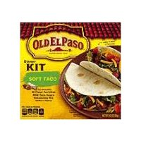 10 count flour tortillas, mild taco sauce and seasoning mix, just add water, meat & toppings!