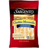 Sargento Cheddar-Mozzarella Cheese Sticks, 9 Ounce