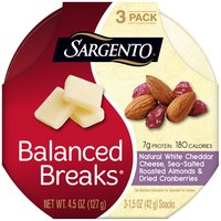 Sargento Balanced Breaks Natural White Cheddar Cheese Snacks - 3 Pack, 4.5 Ounce