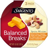 Sargento Balanced Breaks Natural Sharp Cheddar Cheese Snacks - 3 Pack, 4.5 Ounce