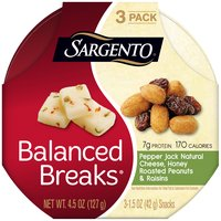 Sargento Balanced Breaks Pepper Jack Natural Cheese Snacks - 3 Pack, 4.5 Ounce