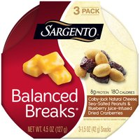 Sargento Balanced Breaks Colby-Jack Natural Cheese Snacks - 3 Pack, 4.5 Ounce