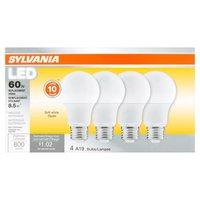 Replacement utilisant 8.5-watt non dimmable, indoor light - A19 - 4 light bulbs