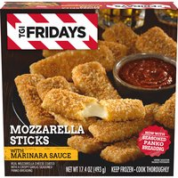 T.G.I. Friday's Mozzarella Sticks With Marinara Sauce, 17.4 Ounce