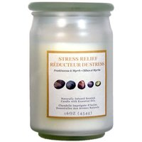 Star Candle Company L.L.C Frosted Apothecary Jar Candle, 16 Ounce