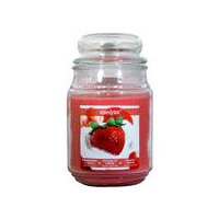 Star Candle Apothecary Jar - Strawberries & Cream, 18 Ounce