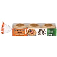 Thomas' 100% Whole Wheat English Muffin, 6 count, 12 Ounce