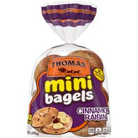 Thomas' Cinnamon Raisin Mini Bagels, 10 count, 15 Ounce