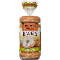 Thomas' Thomas' Onion Soft & Chewy Bagels, 6 count, 20 Ounce