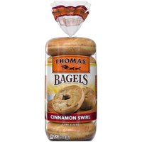 Thomas' Cinnamon Swirl Soft & Chewy Bagels, 6 count, 20 Ounce