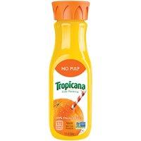 Tropicana Juice - Orange No Pulp, 12 Fluid ounce