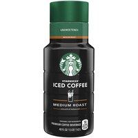 Starbucks Unsweetened Medium Roast Iced Coffee, 48 Fluid ounce