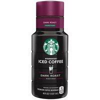 Starbucks Unsweetened Dark Roast Iced Coffee, 48 Fluid ounce
