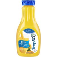 Tropicana Trop50 No Pulp Calcium + Vitamin D Orange Juice, 52 Fluid ounce