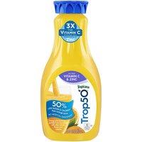 Tropicana Trop50 No Pulp Vitamin C & Zinc Orange Juice, 52 Fluid ounce