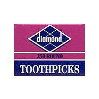 Diamond Brands Round Toothpicks, 250 Each