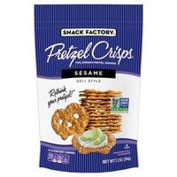 Pretzel Crisps Sesame Deli Style Pretzel Crackers, 7.2 Ounce