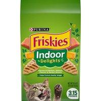Purina Friskies Indoor Delights Dry Cat Food 3.15 lb. Bag, 3.15 Pound