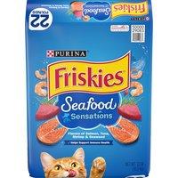 Purina Friskies Seafood Sensations Dry Cat Food 22 lb. Bag, 352 Ounce