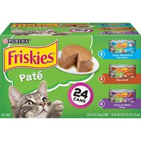 Let your cat choose between savory seafood and succulent poultry with this Purina Friskies Pate wet cat food variety pack. Three recipes offer 100% complete and balanced nutrition for your cat family.
