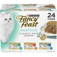 Purina Purina Classic Pate Seafood Feast Variety 24-3 oz. Cans, 4.5 Each