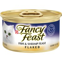 Purina Fancy Feast Wet Cat Food Flaked Fish & Shrimp Feast 3 oz. Can, 3 Ounce