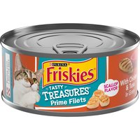Purina Friskies Tasty Treasures Wet Cat Food With Chicken, Tuna & Cheese in Gravy, 5.5 Ounce