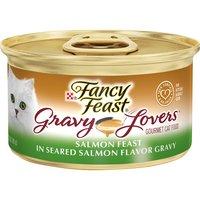 Purina Fancy Feast Gravy Lovers Wet Cat Food Salmon Feast in Seared Salmon Flavor Gravy, 3 Ounce