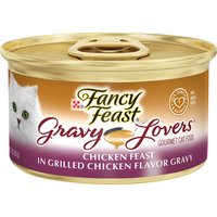 Purina Fancy Feast Gravy Lovers Wet Cat Food Purina Fancy Feast Gravy Lovers Wet Cat Food Chicken Feast in Grilled Chicken Flavor Gravy, 3 Ounce