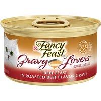 Purina Fancy Feast Gravy Lovers Wet Cat Food Purina Fancy Feast Gravy Lovers Wet Cat Food Beef Feast in Roasted Beef Flavor Gravy 3 oz. Can, 3 Ounce