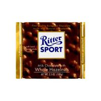 Ritter Sport Milk Chocolate With Whole Hazelnuts, 3.5 Ounce