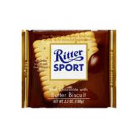Ritter Sport Chocolate - Milk with Butter Biscuit, 3.5 Ounce