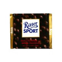 Ritter Sport Dark Chocolate with Whole Hazelnuts, 3.5 Ounce