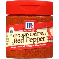 Get the ideal blend of heat and flavor with McCormick Ground Cayenne Red Pepper. This time-tested pantry staple delivers consistent kick to a wide range of dishes from soups and stews like gumbo, to dips like guacamole -- even desserts.