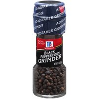 Enjoy freshly ground pepper wherever you need it with this McCormick Black Peppercorn Grinder. This pantry staple adds fresh, bold flavor to almost any dish. Simply twist the built-in grinder to add just the right amount of pepper. You can even select fine, medium or coarse grind.
