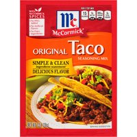McCormick Original Taco Seasoning Mix, 1 Ounce
