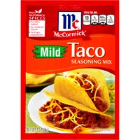 Turn tonight's meal in to a flavor-filled fiesta with McCormick Milk Taco Seasoning Mix. Bold south-of-the-border flavors, like paprika, chili pepper and cumin, create a mild heat that's perfect for seasoning ground meat.
