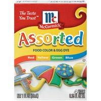 McCormick Assorted Food Color & Egg Dye, 1 Fluid ounce