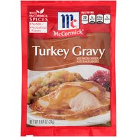Delicious homemade turkey gravy in 5 minutes! Made with McCormick spices and no artificial flavors, this smooth gravy deserves its own holiday. It adds savory goodness to mashed potatoes, turkey and stuffing.