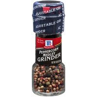 Fresh ground flavor! A colorful blend of whole black, white, green and pink peppercorns, whole allspice and whole coriander. Add a flavorful kick to chicken, beef, pasta, vegetables and salads.