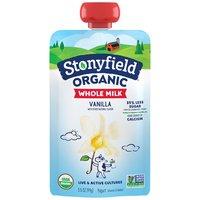 Stonyfield Whole Milk Vanilla Yogurt Pouch, 3.5 Ounce
