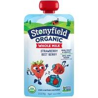 Stonyfield Whole Milk Strawberry Beet Berry Yogurt Pouch, 3.5 Ounce