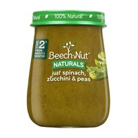 Beech-Nut Naturals Stage 2 Just Spinach, Zucchini & Peas, 4 Ounce