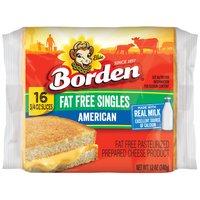 Borden Fat Free American Singles, 12 Ounce
